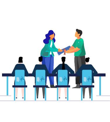 An LMS offers internal organizational training to promote employees